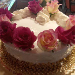 Pastís aniversari - Rosa